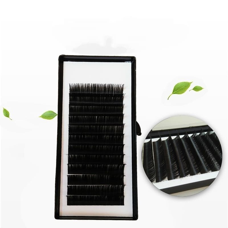 wholesale lashes private label korean pbt silk individual eyelash extensions manufacturer
